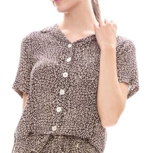 Beachgold Tina Animal Print Top NEW